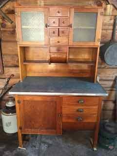 Oak Kitchen Hoosier Cabinet