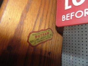 Oak Library Ladder By Putnam Company