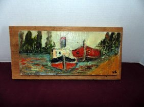 Painting Of Tug Boat