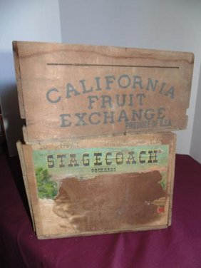 Wood Advertising Crates