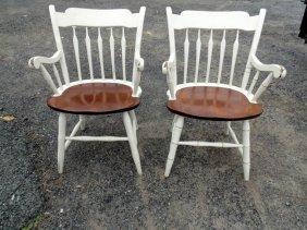 2 Arrowback Windsor Arm Chairs