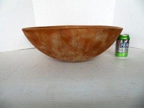 19thc Wood Bowl