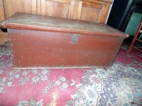 Blanket Box In Old Red Paint