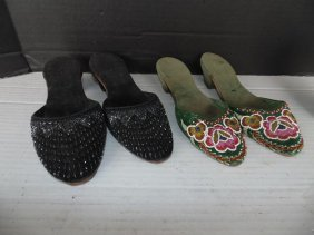 Ladies Beaded Shoes
