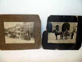 Early Firemen & Horse Drawn Fire Wagon Photos