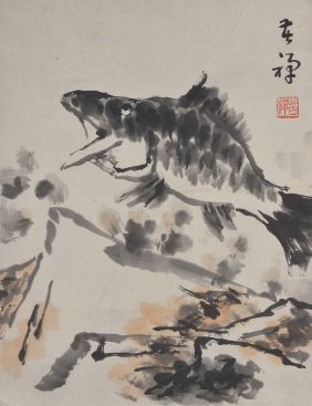 Li Kuchan Chinese Watercolour On Paper Painting