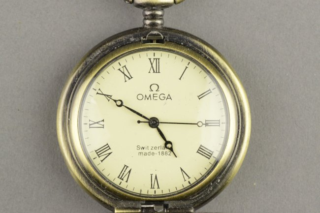 Antique Swiss Made Omega Pocket Watch Made 1882 Lot 289