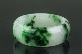 Chinese Green Hardstone Bangle