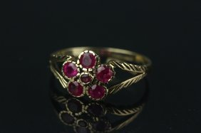 9k Gold Ruby 0.32ct Ring Appraised $625