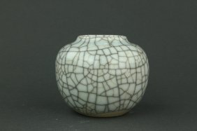 Chinese Guan Type Small Porcelain Jar