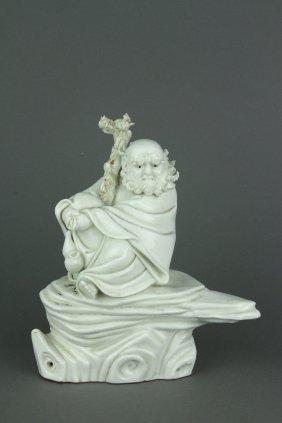 Qing Period Blanc De Chine Carved Porcelain Figure