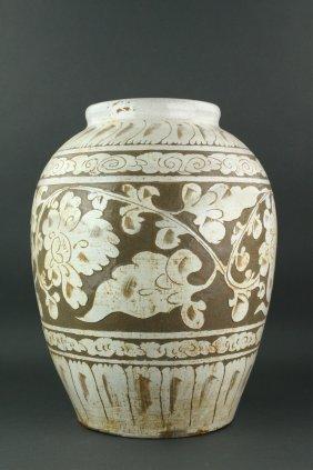 Large Chinese Cizhou Song Pottery Jar
