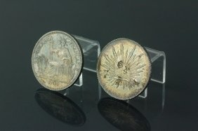 2 Pc French & Mexican Silver Coins 1904 & 1889