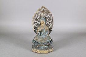 Chinese Bronze Guanyin Figure