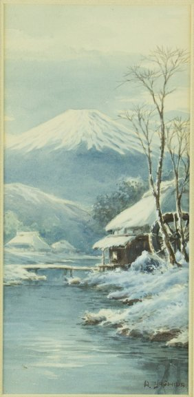 Watercolour On Paper Hiroshi Yoshida 1876-1950