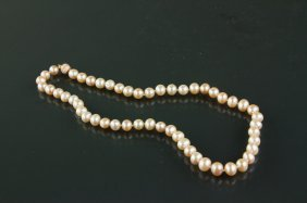 Freshwater Pearl Necklace W/ Clasp Crv $407