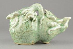Chinese Celadon Crackled Glaze Porcelain Ewer