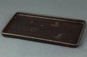 Chinese Lacquer Wood Tray Tongzhi Mk