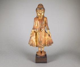 Chinese 18/19th C. Wood Guanyin Figure