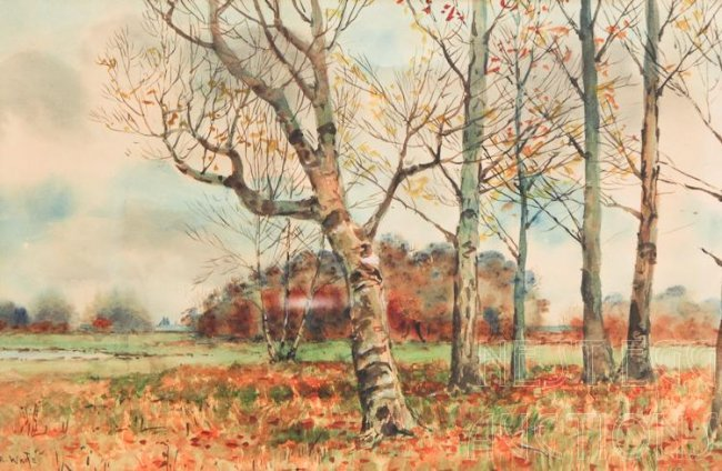 Thomas Royal Waite 1861 1919 Watercolors Lot 151