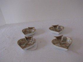 4 Nippon Satsuma  Spade Dishes