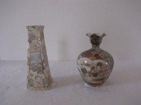 2 Nippon Satsuma  Vases