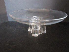 2 Pcs. Steuben Glass, Stand & Dolphin