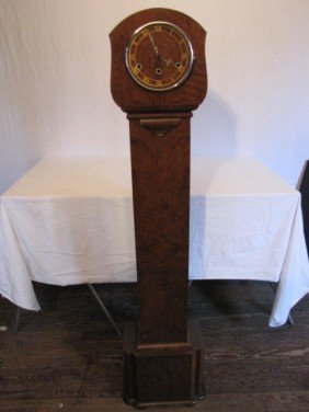 "Deco Floor Clock, 4'9"" Tall"