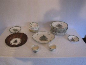 70+ Pcs. Spode China Set Christmas Tree Pattern