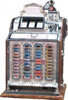5 Cent Mills Gooseneck F.O.K. Vender Slot Machine