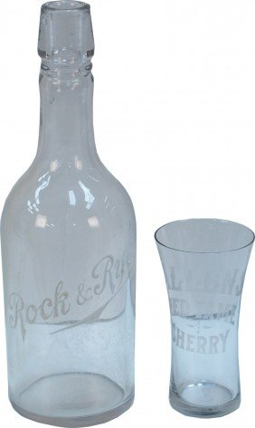 Lot Of 2 Vintage Glass Items: