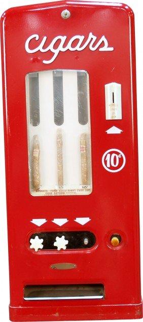 10 Cent Vintage Metal Cigars 3-Column Vending Mach