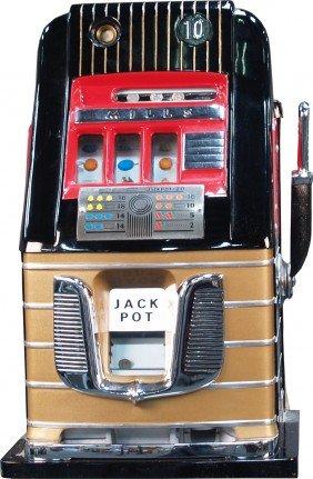 10 Cent Mills Hi-Top Black & Gold Jackpot Slot Mac