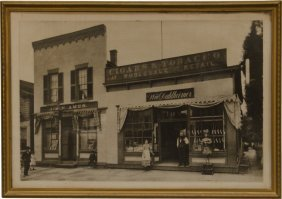 Early Black & White Photo - Cigar Store Featuring