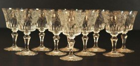 10 BACCARAT PARME FRENCH CRYSTAL RED WINE GLASSES