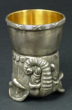 IMPERIAL RUSSIAN SILVER ELEPHANT CUP RAPPOPORT