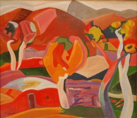 MINAS AVETISIAN CUBISM OIL ON CANVAS