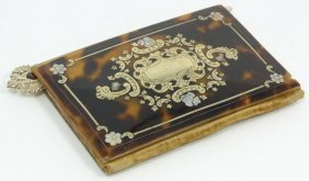 RUSSIAN SILVER & TORTOISE SHELL NOTEBOOK SHIELD