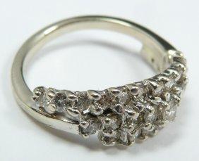 10K WHITE GOLD WOMEN'S 1.00ctw DIAMOND BAND