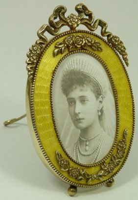 IMPERIAL RUSSIAN SILVER GUILLOCHE PICTURE FRAME