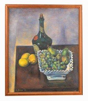 Ernest Fiene (Am, 1894-1965)  Still Life   *