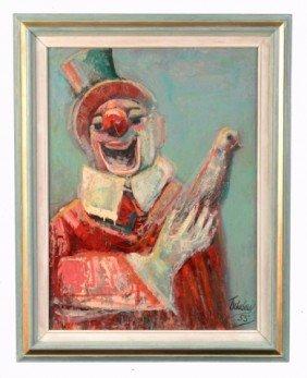 Nahum Tschacbasov (Russian, 1899-1984)  Clown