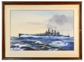 Jack Coggins (Am., 1911-2006) Battleship