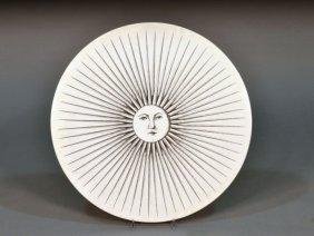 Piero Fornasetti (It. 1913-1988)  Sun Wall Plaque