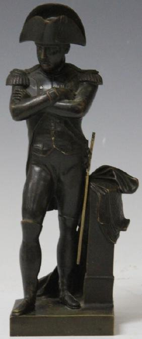 FRENCH BRONZE STATUE OF NAPOLEAN, 19TH CENTURY