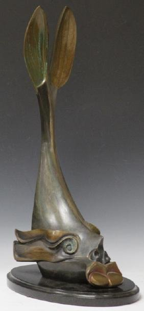 DONALD RIGGS (B. 1948), BRONZE SCULPTURE