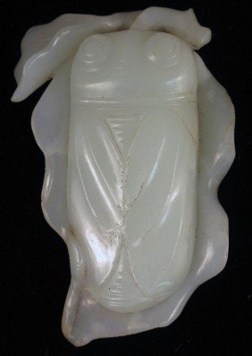 CHINESE WHITE JADE CARVING  Size: 3""
