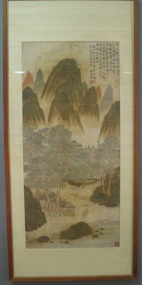 WEN ZHENGMING,(1470-1559) Chinese Watercolor Mid-16