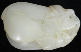 CHINESE CARVED JADE Length: 2 1/4""