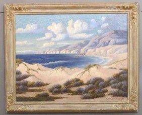"""RICHARD KRUGER- 1880, O/C Coastal Scene Sight: 28""""x"""